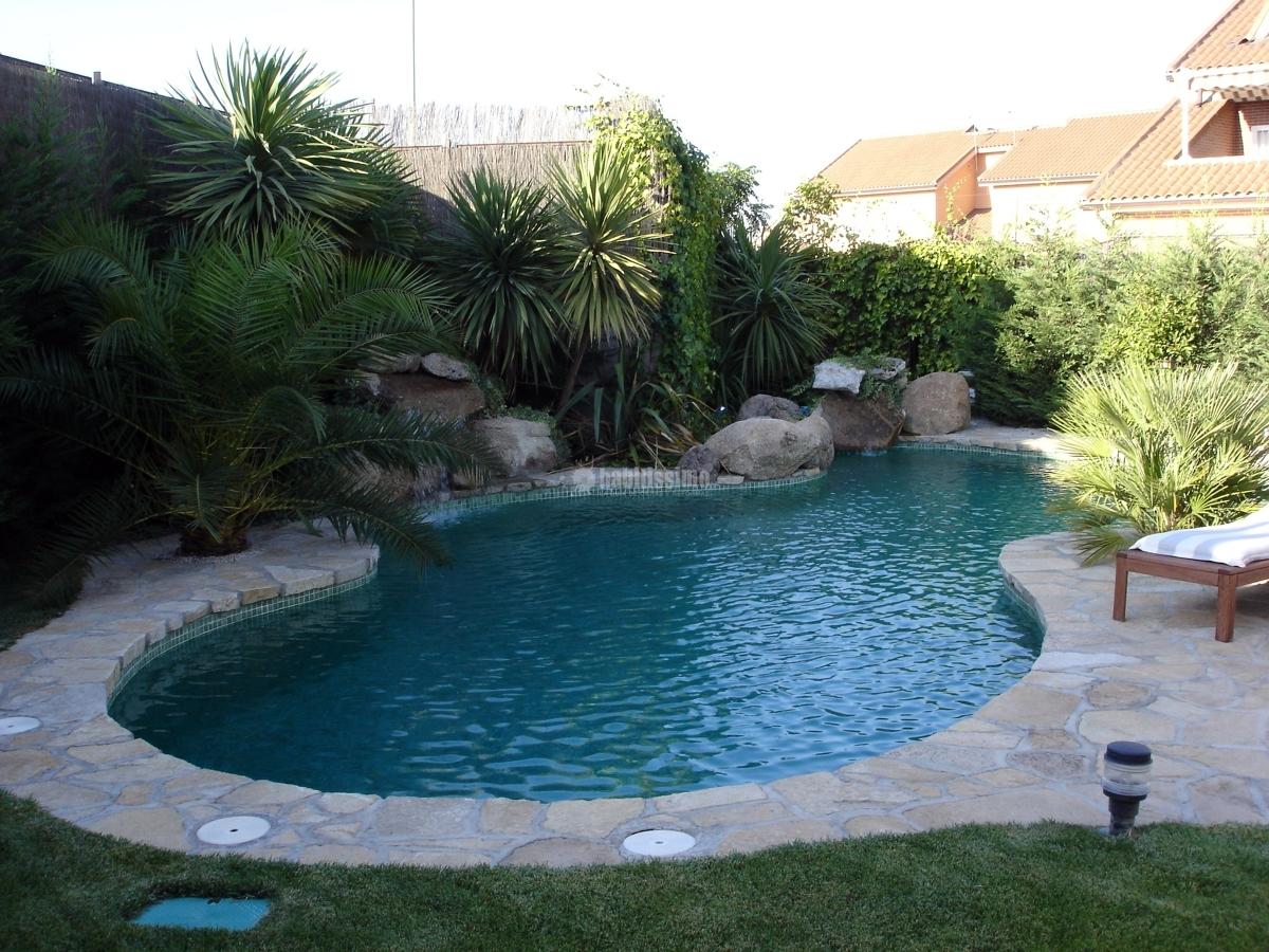 Foto piscina tipo lago de piscijardin s l 83256 for Piscina y jardin 2002 s l