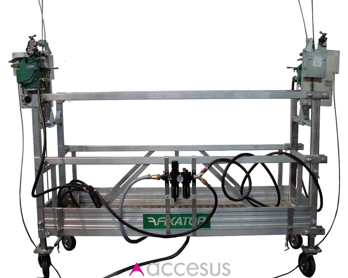 Foto alquiler de andamio colgante de 2 m motorizado de for Alquiler de andamios en valencia
