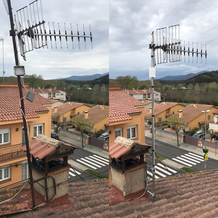 Reparación antena tdt