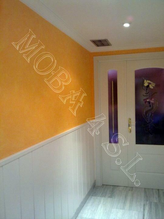Foto acabado de paredes en trapeado con z calo de madera - Zocalos para paredes ...