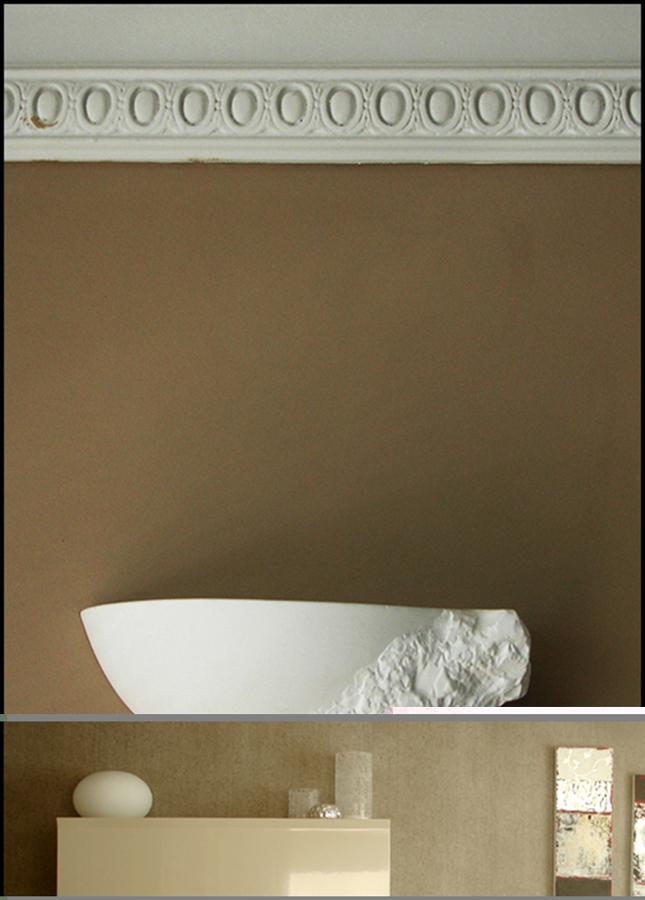 Adorno moldura decorativa de escayola