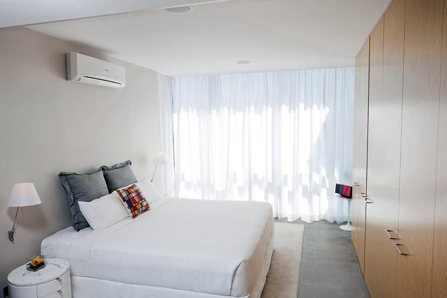 Aire acondicionado en dormitorio