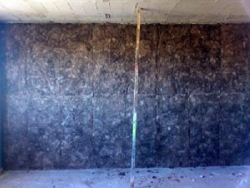 Foto aislante lana de roca de tabiques garc a d az s l - Lana de roca aislante termico ...