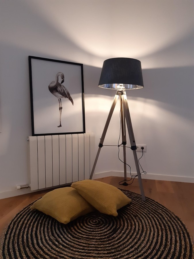 RIncon acogedor: alfombra y luz