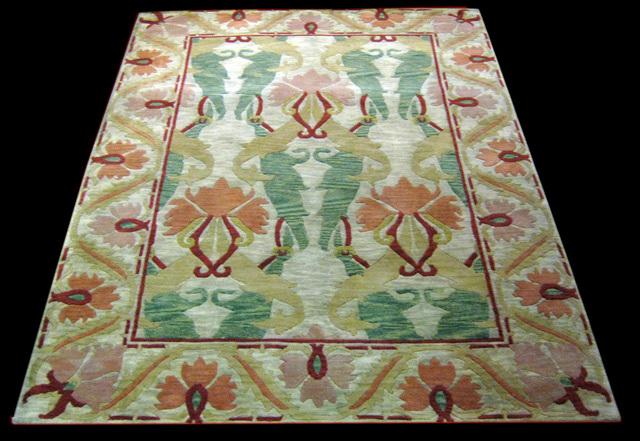 Foto alfombra de lana dise o william morris medida de - Alfombras de lana a medida ...