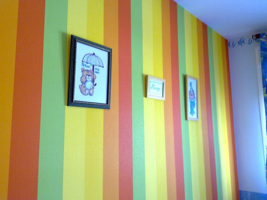 Foto alta decoracion colocacion papel pintado de for Papel pintado tenerife