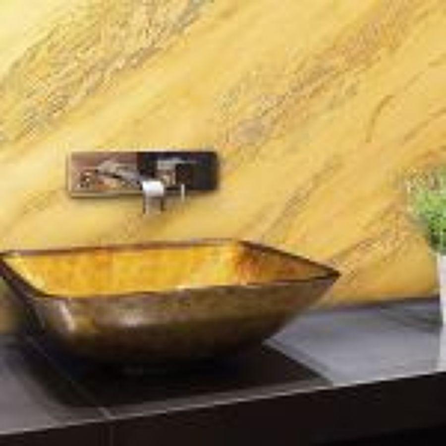 Baño con estilo, Valpaint marmolet amarillo con aguas
