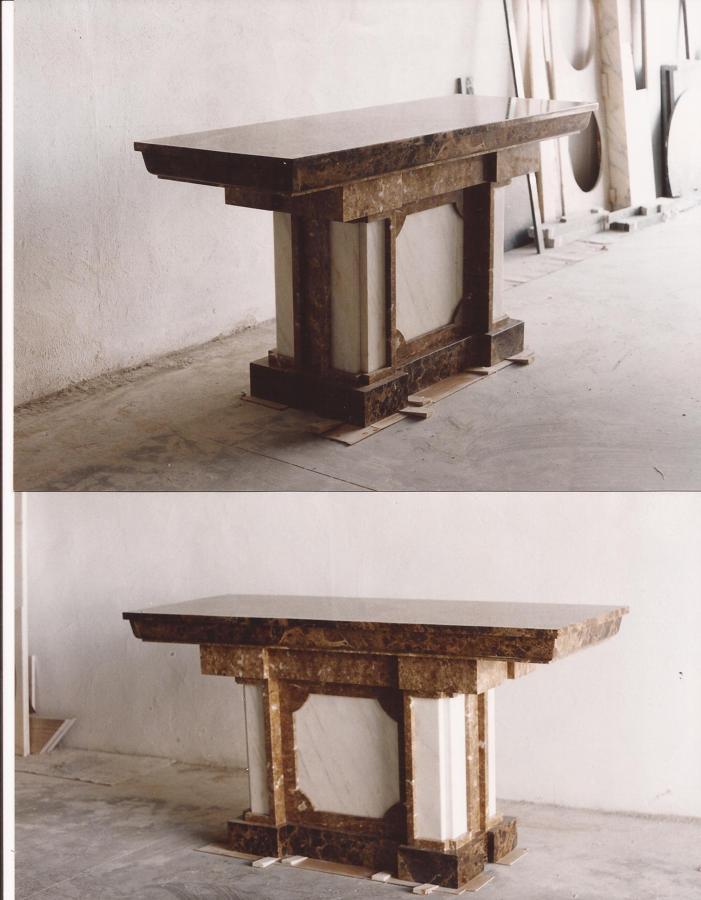 Altar de mármol: Varios materiales.