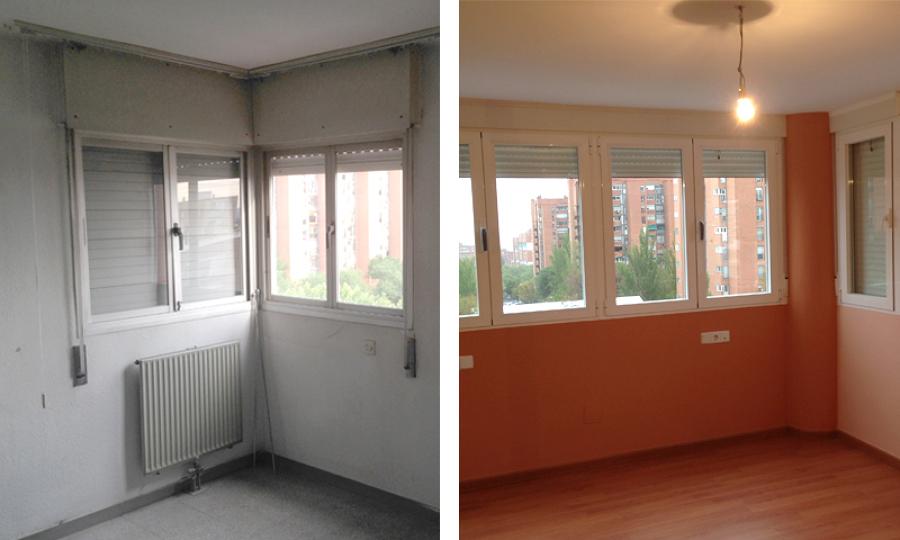 Ampliación de dormitorio con terraza