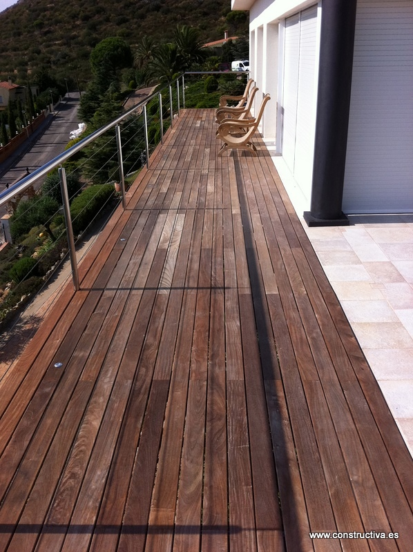 Ampliacion de terraza con tarima de iroko