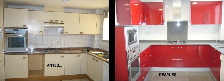 Antes y despu s una cocina peque a llena de grandes ideas for Cocinas antes y despues
