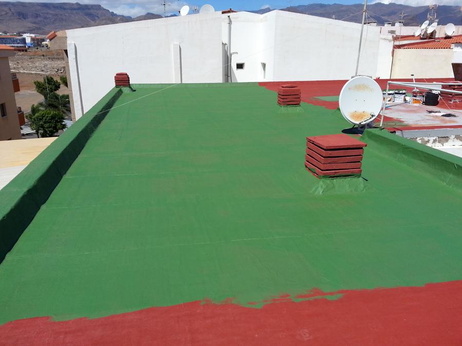 Aplicación de pintura impermeabilizante