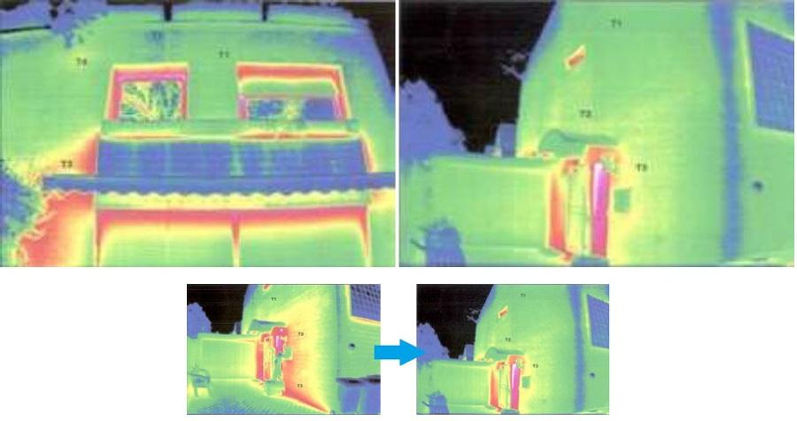Aplicación en fachadas mejorando eficiencia energética.