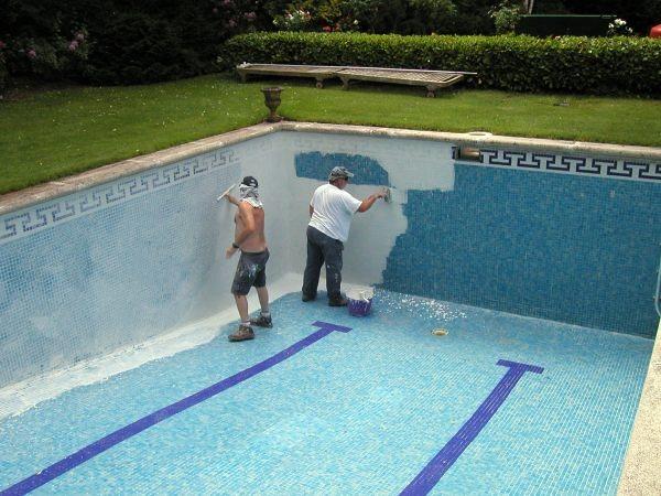 Foto aplicacion impermeabilizante en piscinas de - Impermeabilizantes para piscinas ...