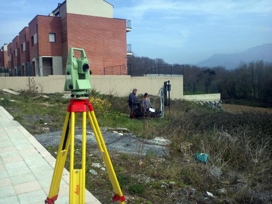 Apoyo topográfico a trabajos de geotecnia