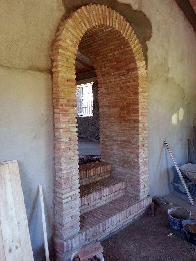 Foto arco de medio punto con ladrillo de obra 360 407863 habitissimo - Arcos de ladrillo rustico ...