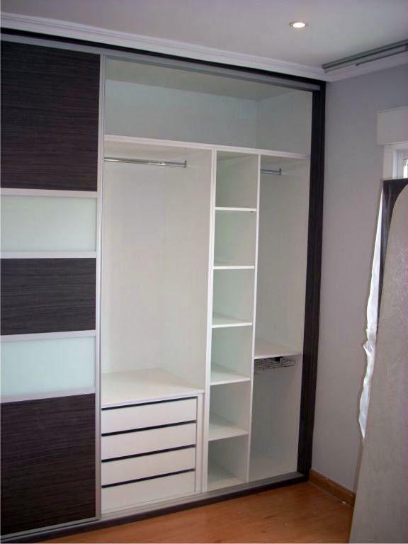 Foto armario fabricado en melamina blanca de kadimed - Ideas para armarios empotrados pequenos ...