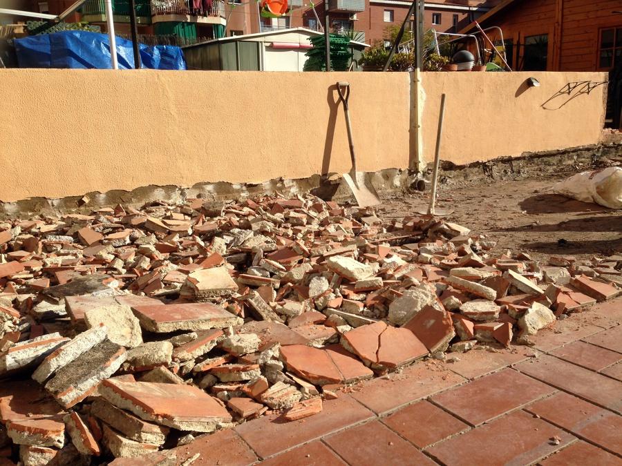 Arreglo de una terraza antigua...