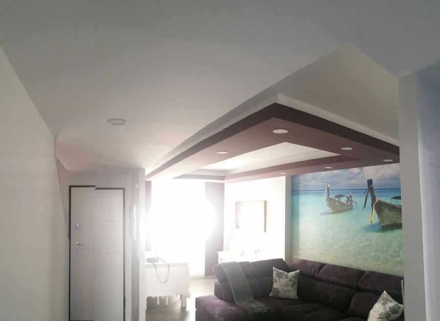 Foto dise o de techo decorativo con pladur de reforplama - Bajar techos con pladur ...