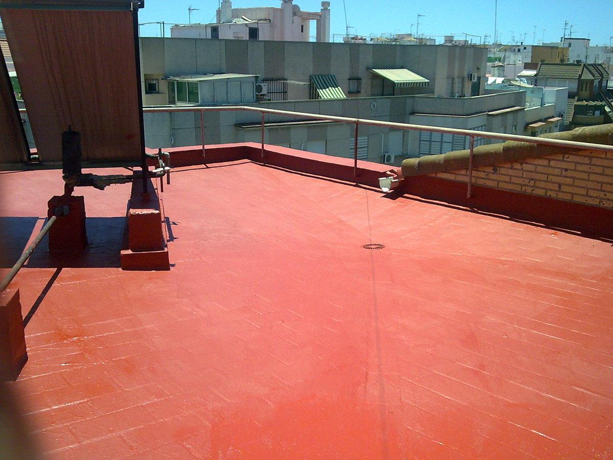 Foto azotea caucho no transitable de impermeabilizaciones - Azotea transitable ...