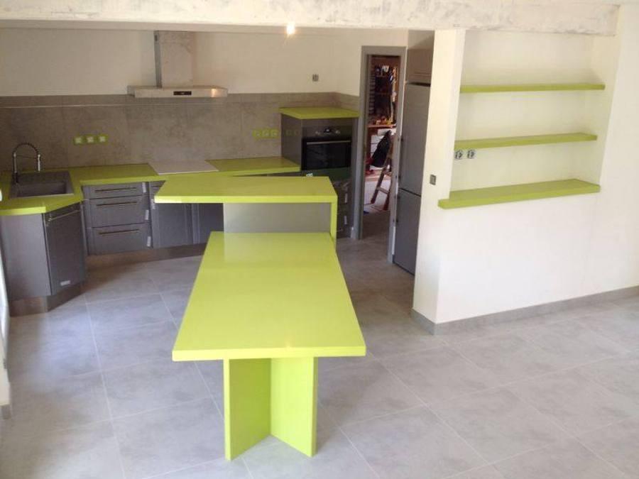 Foto bancada de cocina en quarzo verde jade marmoles - Bancadas de cocina ...