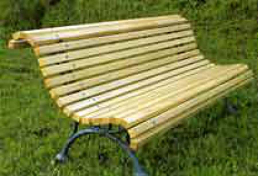 Foto banco de madera de casta o de juan luis seco 534348 - Madera de castano ...