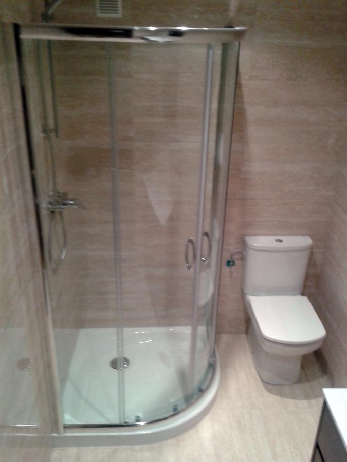 Azulejos Baño Granada:Baño azulejo rectificado en travertino