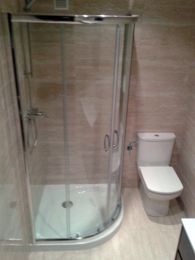 Azulejos Baño Juvenil:Baño azulejo rectificado en travertino