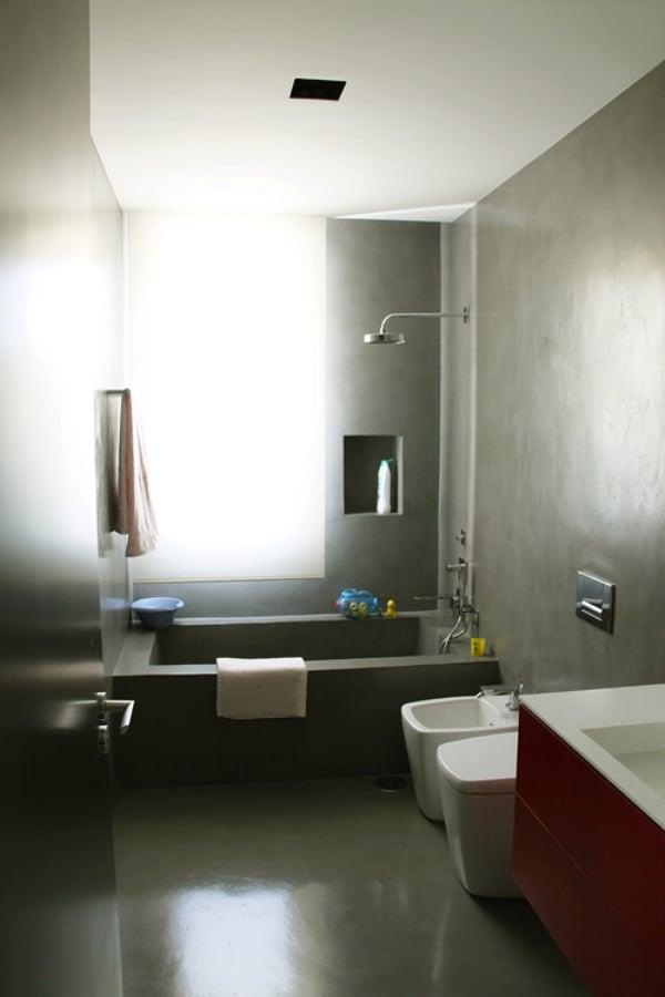Foto ba o con microcemento de arquitectos madrid 2 0 - Bano con microcemento ...