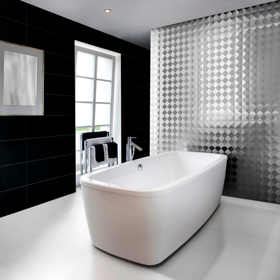 foto: baño de diseño con azulejos de aparici de pochiche, s.a.