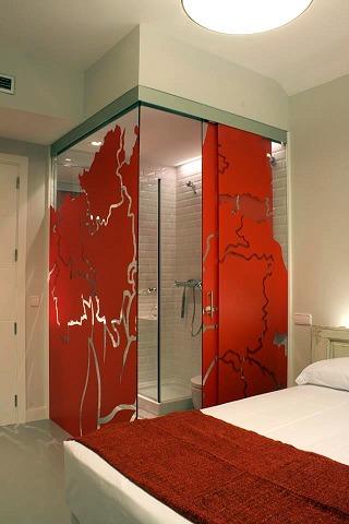 Foto ba o de paredes de cristal de carpinteria de - Paredes de banos ...