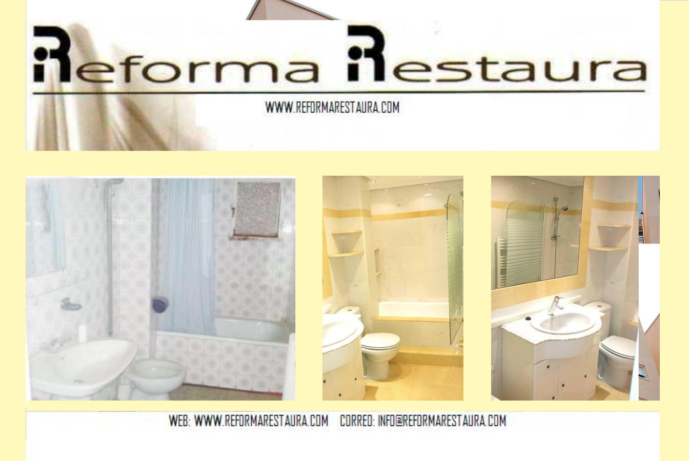 Foto ba o en marmol blanco y amarillo de reforma restaura for Bano marmol blanco