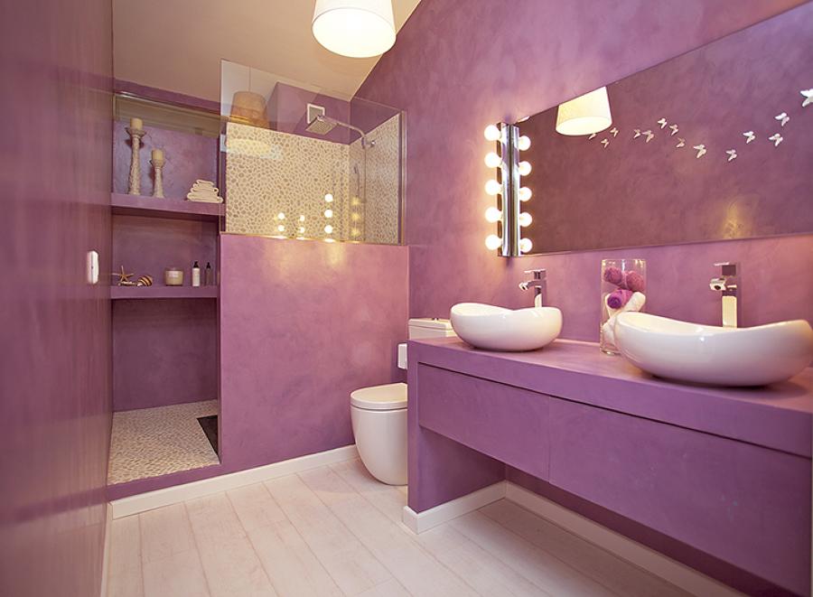 Baño en Microcemento por Arquitectos Madrid 2.0
