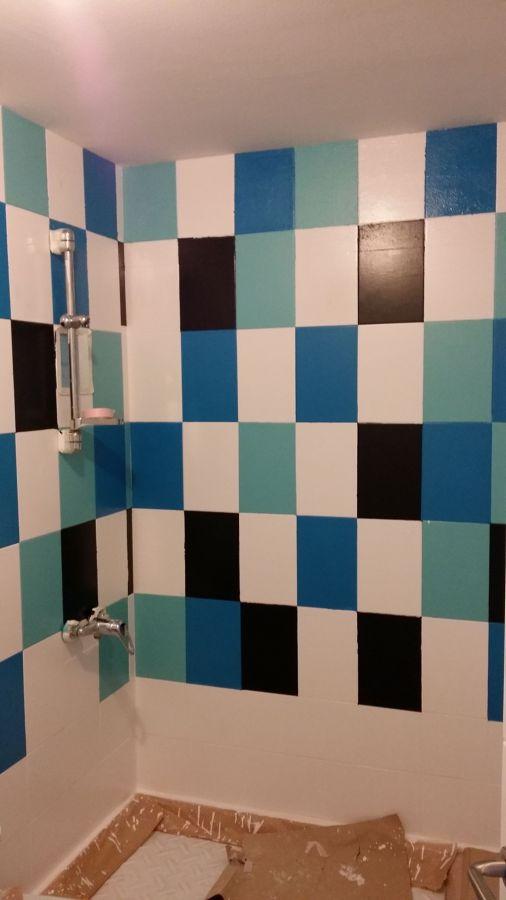 Baños De Azulejos Pintados:Foto: Baño, Pintado de Azulejos Fase 3 de Fontaneria Raumar #532384