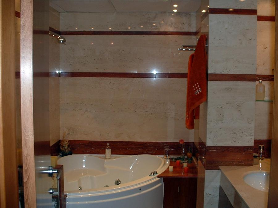 Foto ba o travertino de servimar marmol y granito s l - Marmol travertino para banos ...