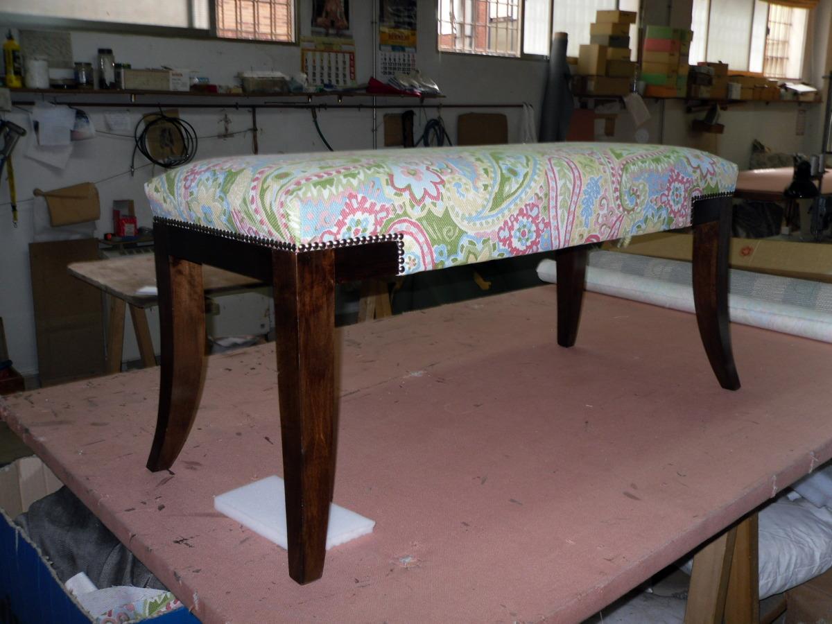 Foto banqueta con aro y patas banizadas de tapicer a juan - Tapiceros en salamanca ...