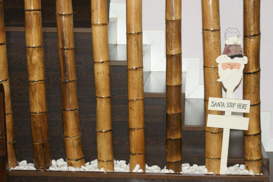 Foto barandilla de bamb y jardinera de la carpinteria - Jardineras con bambu ...