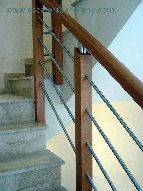 Barandilla madera exterior great carril para escaleras - Barandilla madera exterior ...