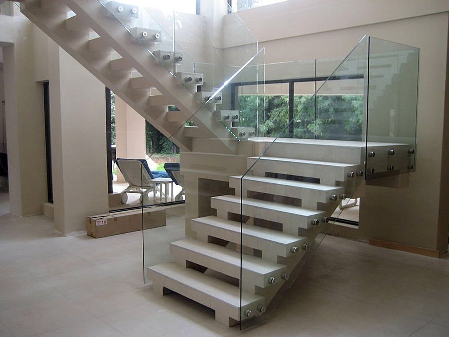 cheap barandilla escalera vidrio with barandillas de cristal para escaleras interiores - Barandillas Escaleras Interiores