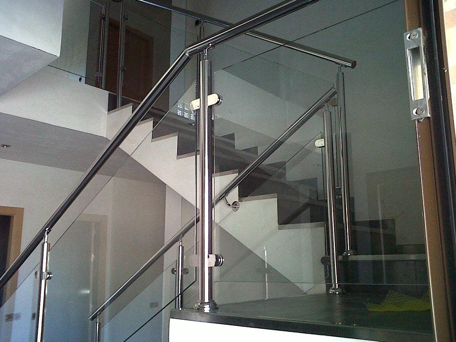Barandilla interior acero inoxidable con cristal