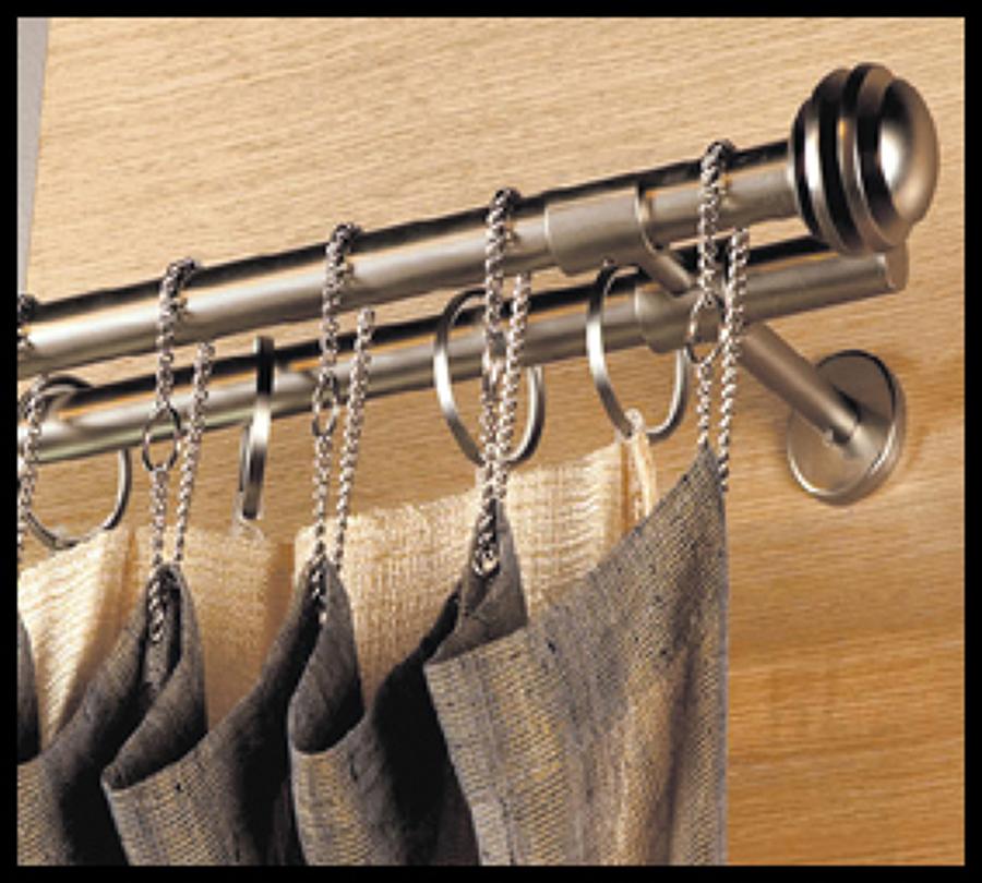Foto barras y rieles de cortinas de persianas parasole - Rieles de cortina ...