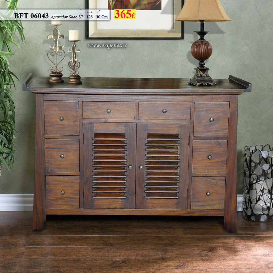 Foto bft 06043 mueble tv colonial de muebles origenes for Mueble colonial barcelona