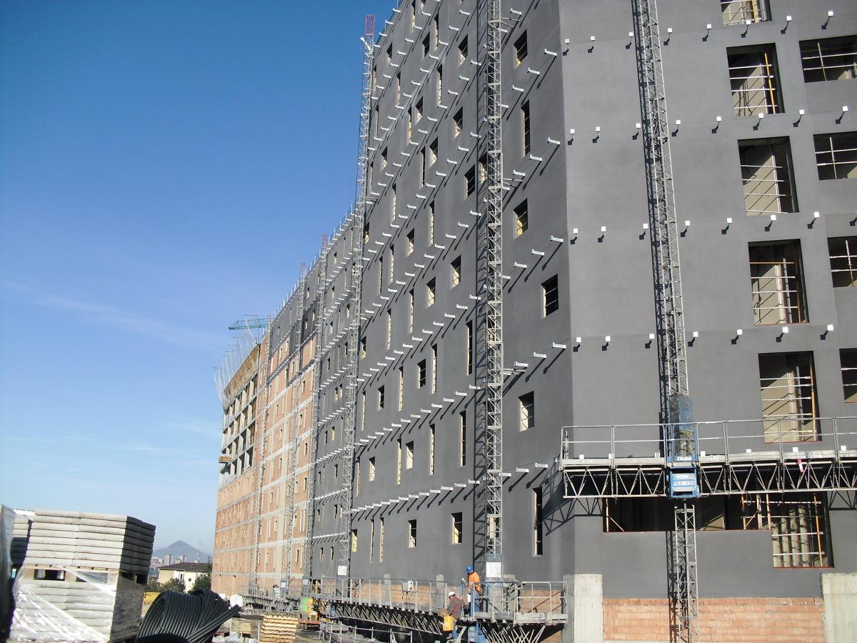 Bilbao. Aislamiento termico de Escuela de Ingenieros. Sistsma Onexit Thermic.