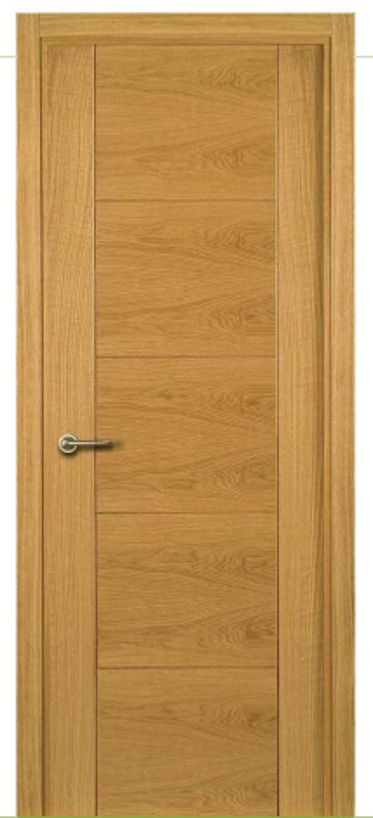 Foto block de puerta de roble ranurada de puertas y mas for Puerta de roble macizo castorama