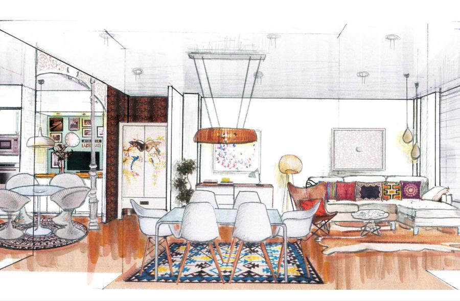 Foto anteproyecto decoraci n sal n de grupo carman carman interiorismo 640642 habitissimo - Interiorismo de salones ...