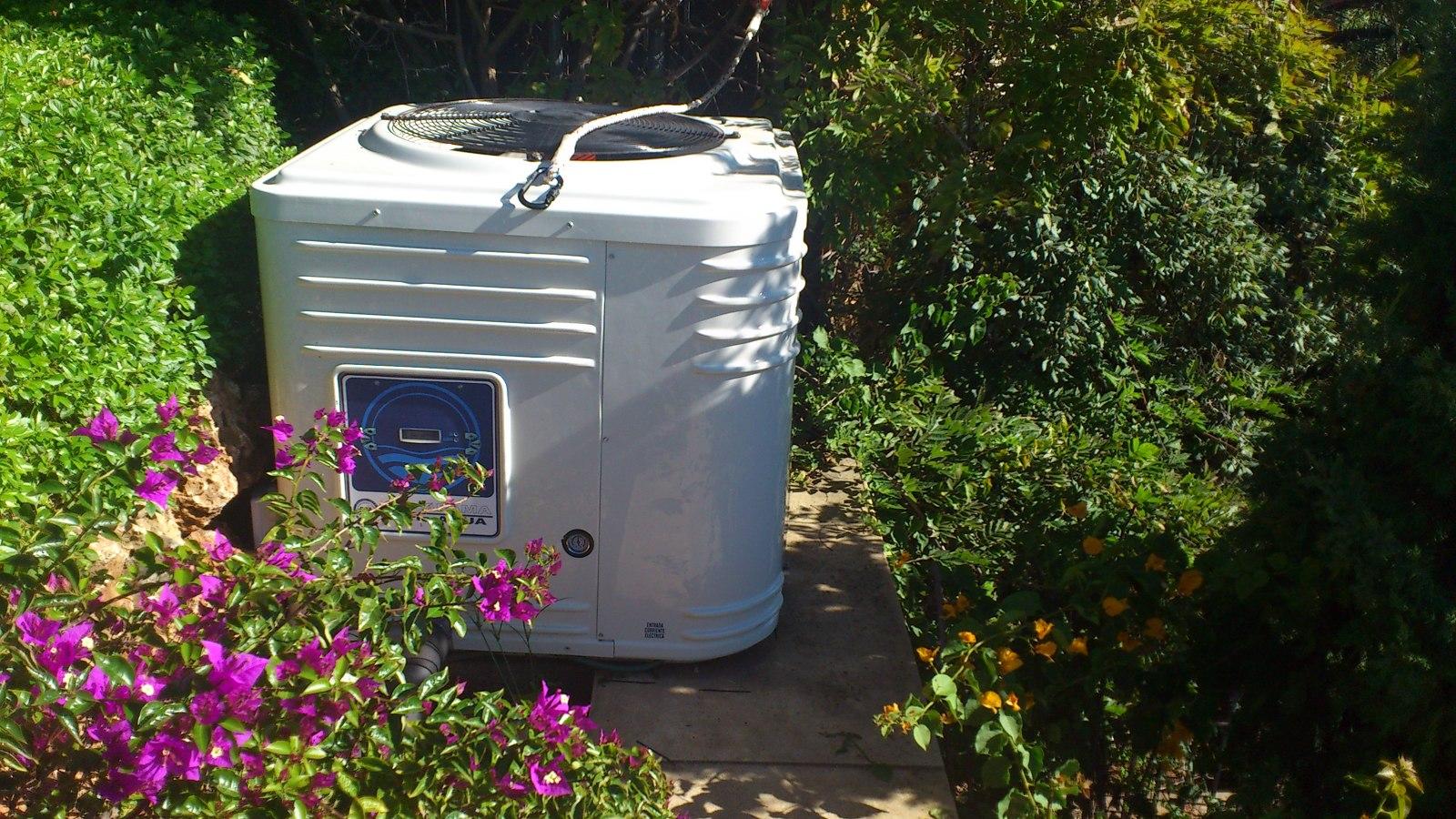 Bomba de calor para calentamiento de piscinas, Baeza