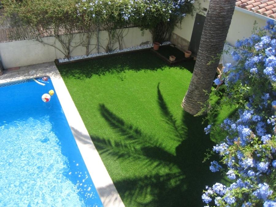 Bonito Jardín mediterraneo