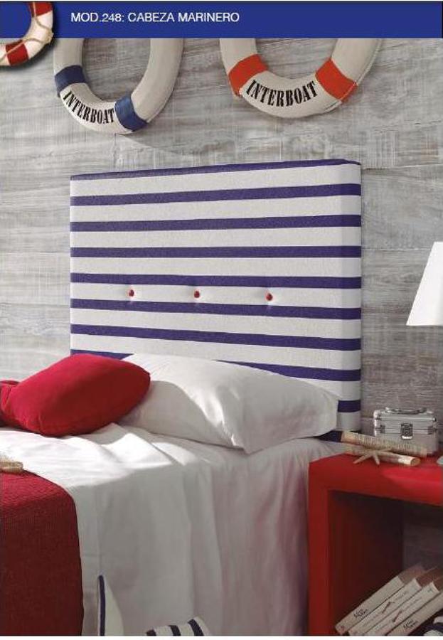 Foto cabecero juvenil tapizado marinero de muebles la for Muebles castillo murcia