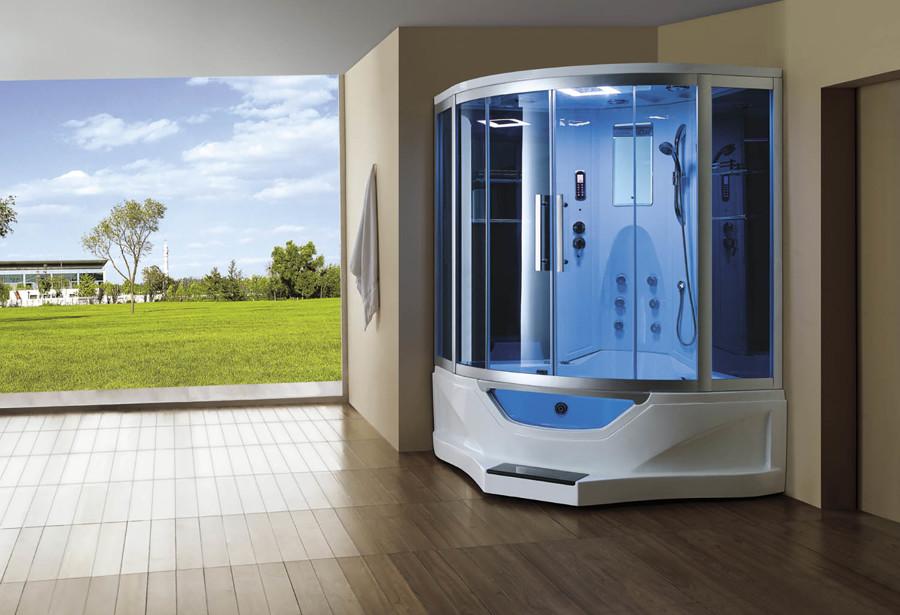 Cabina de hidromasaje con bañera y función sauna modelo AT-012C