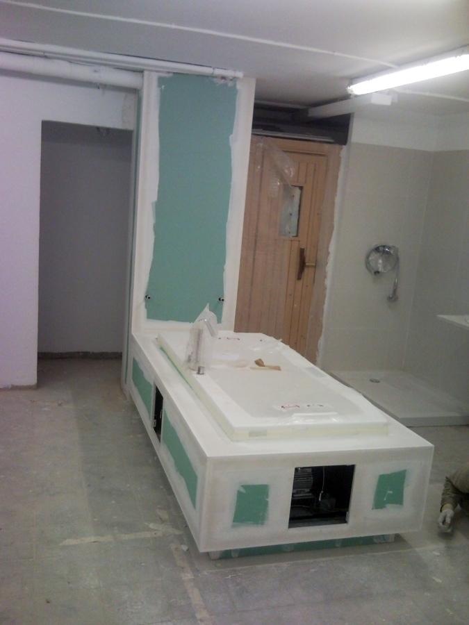 cajón bañera con placa hidrofuga para pintar